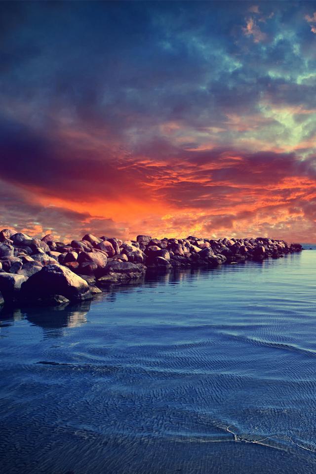 Baltic Sea Wallpaper iPhone 4 Sunrise on Baltic Sea