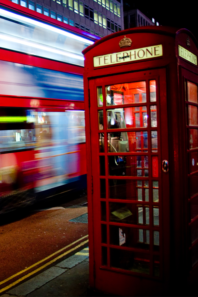 London Telephone Box Wallpaper For Iphone X 8 7 6 Free