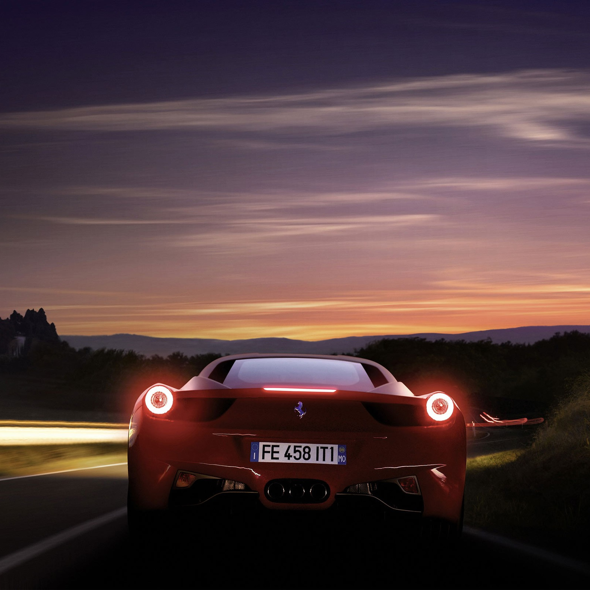 Running Ferrari 458 -iPad Wallpaper For IPhone 11, Pro Max