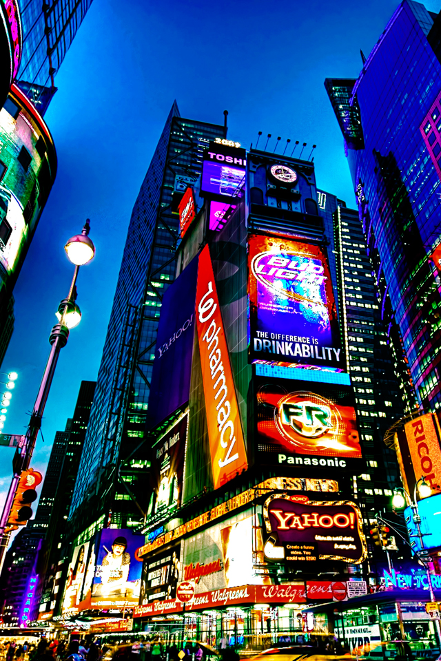Time Square Wallpaper For Iphone X 8 7 6 Free
