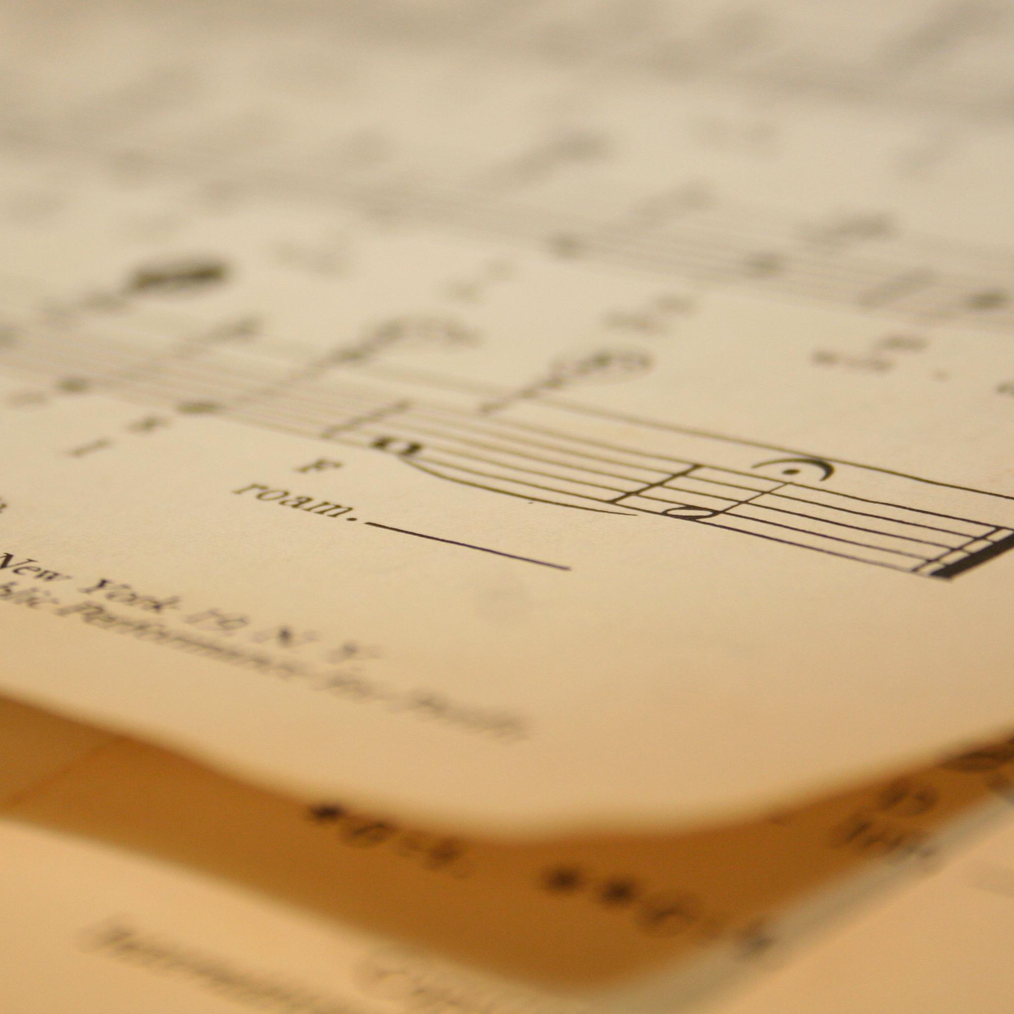 Feuille de musique 3 Wallpapers iPad Feuille de musique