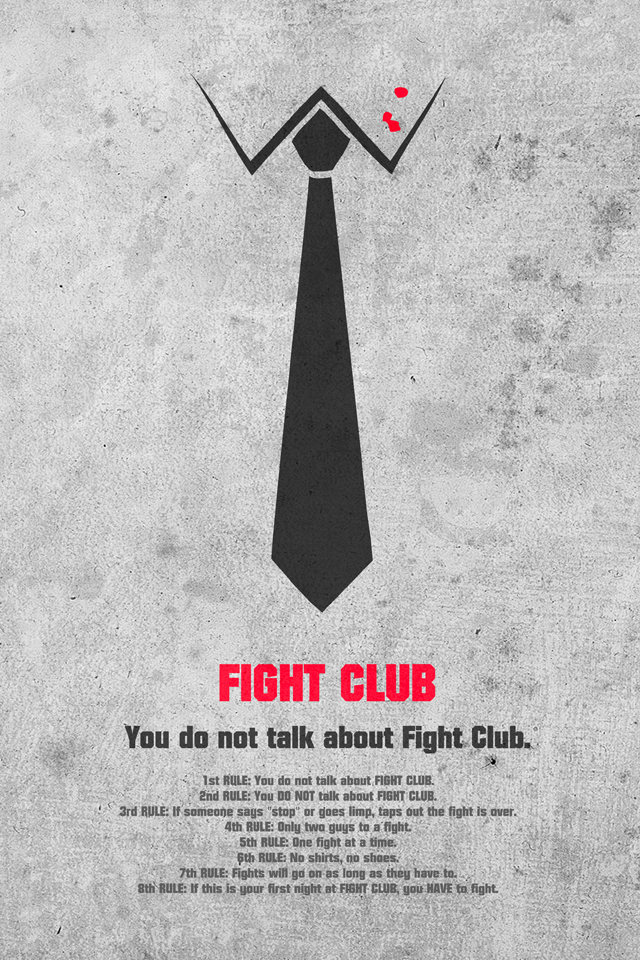 Fight Club By Vbabic Wallpaper For Iphone X 8 7 6 Free