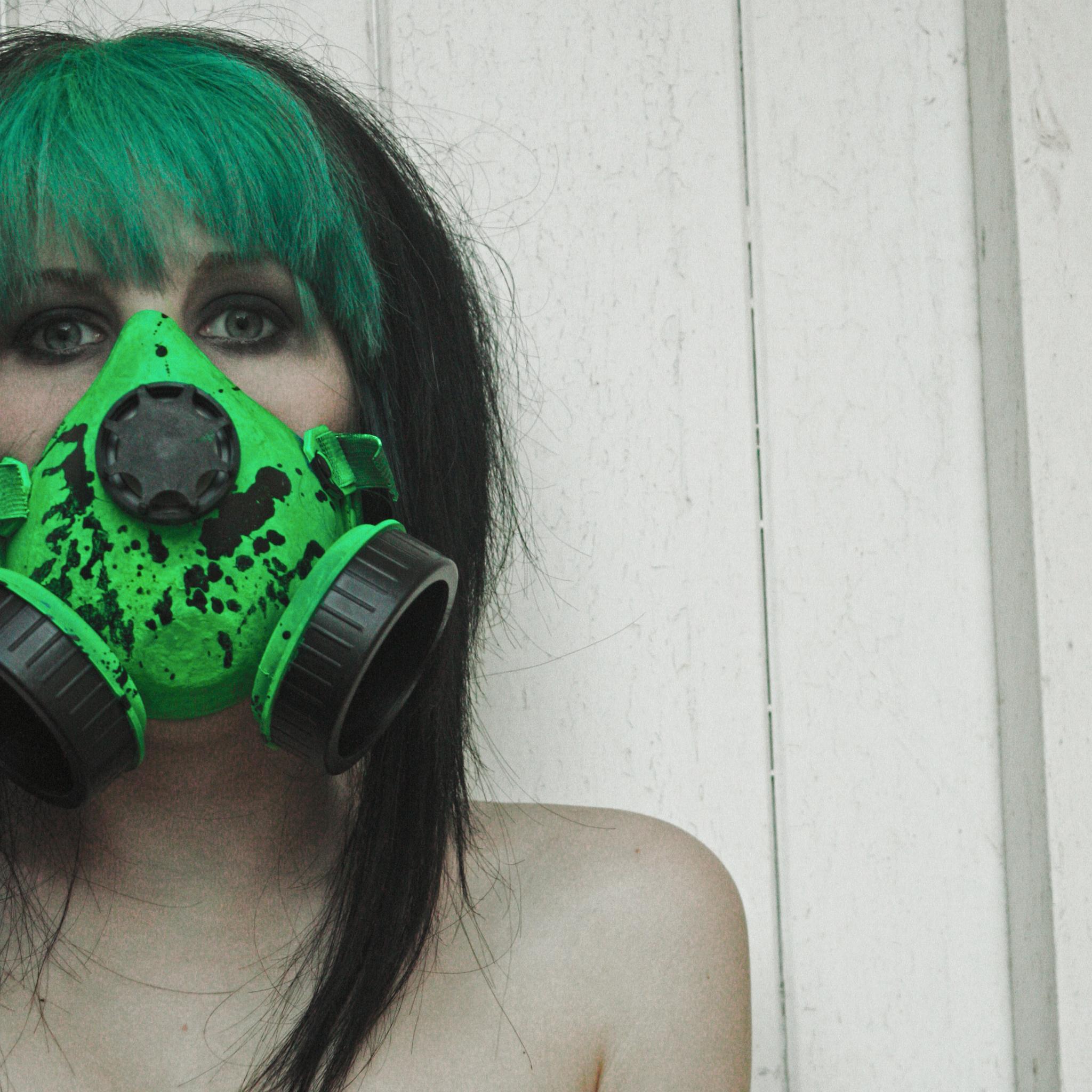 Girl with spray mask 3 Wallpapers iPad Girl with Spray Mask   iPad