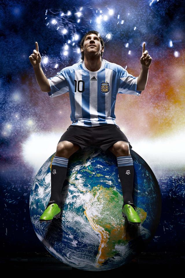 Leo Messi 3W Les 3 Wallpapers iPhone du jour (05/04/12)