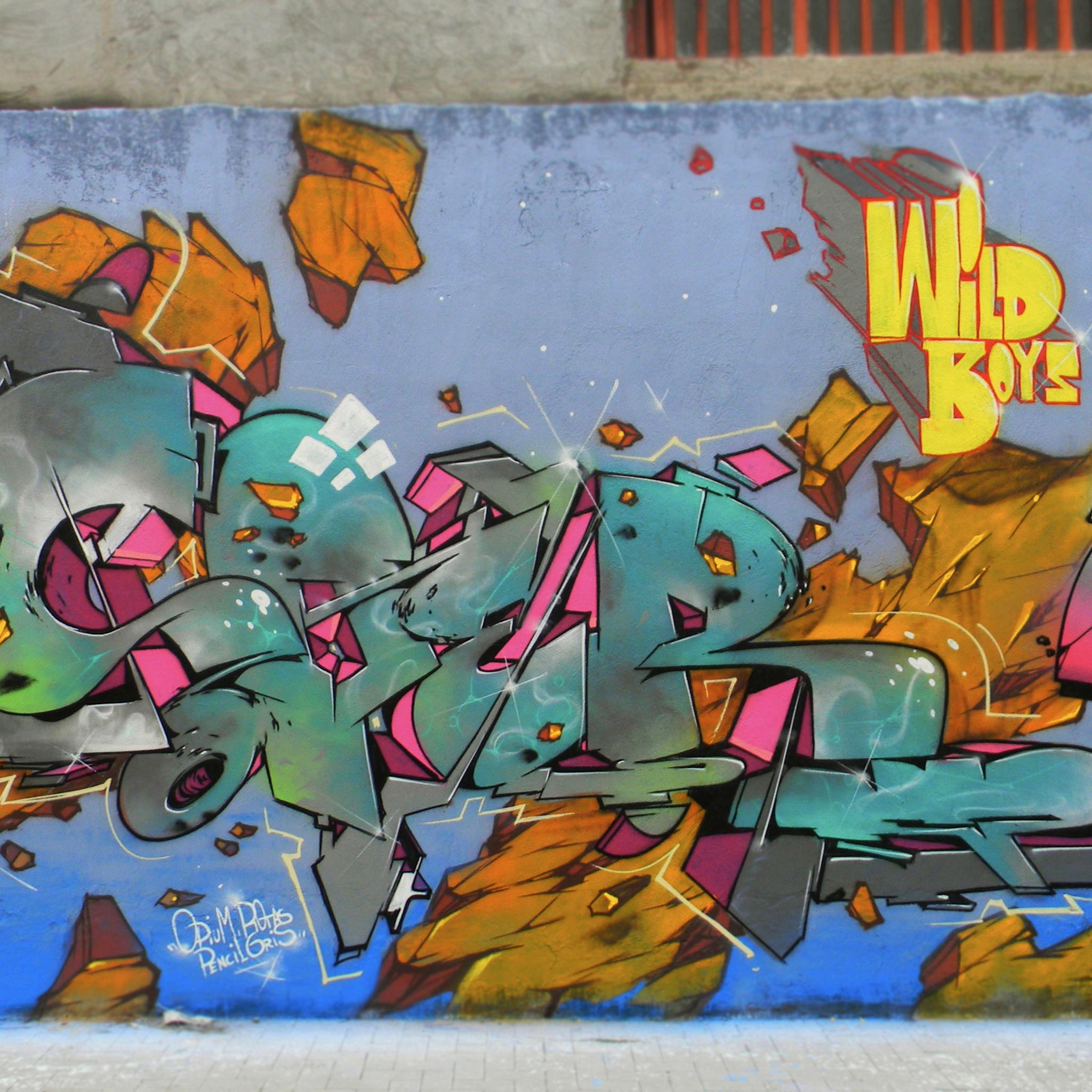 Wild Boy Graffiti 03 3W iPad Wild Boyz Graffiti #2   iPad