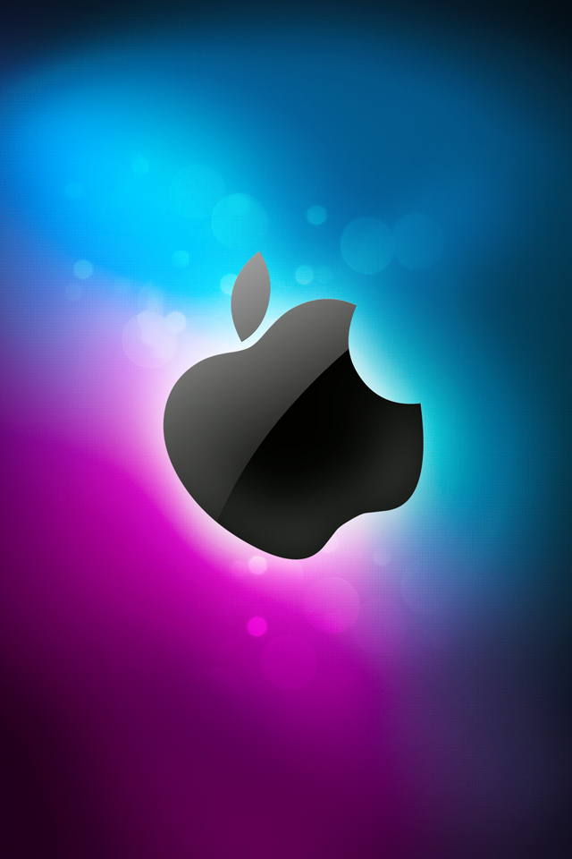 Häufig Wallpaper HD iPhone X, 8, 7, 6 - Apple Blue Shadow - Free Download PS38