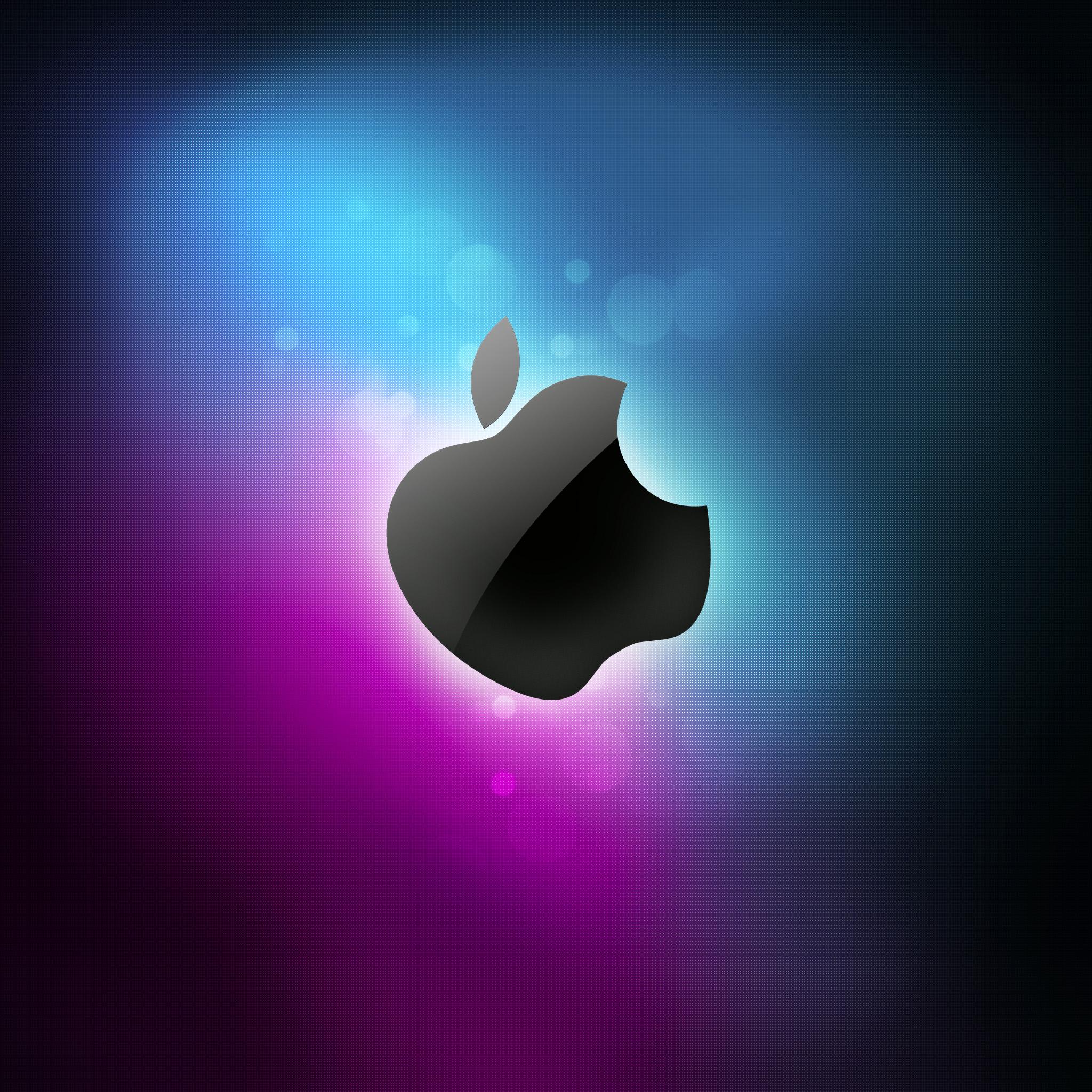 Apple Blue Shadow 3 Wallpapers iPad Apple Blue Shadow   iPad