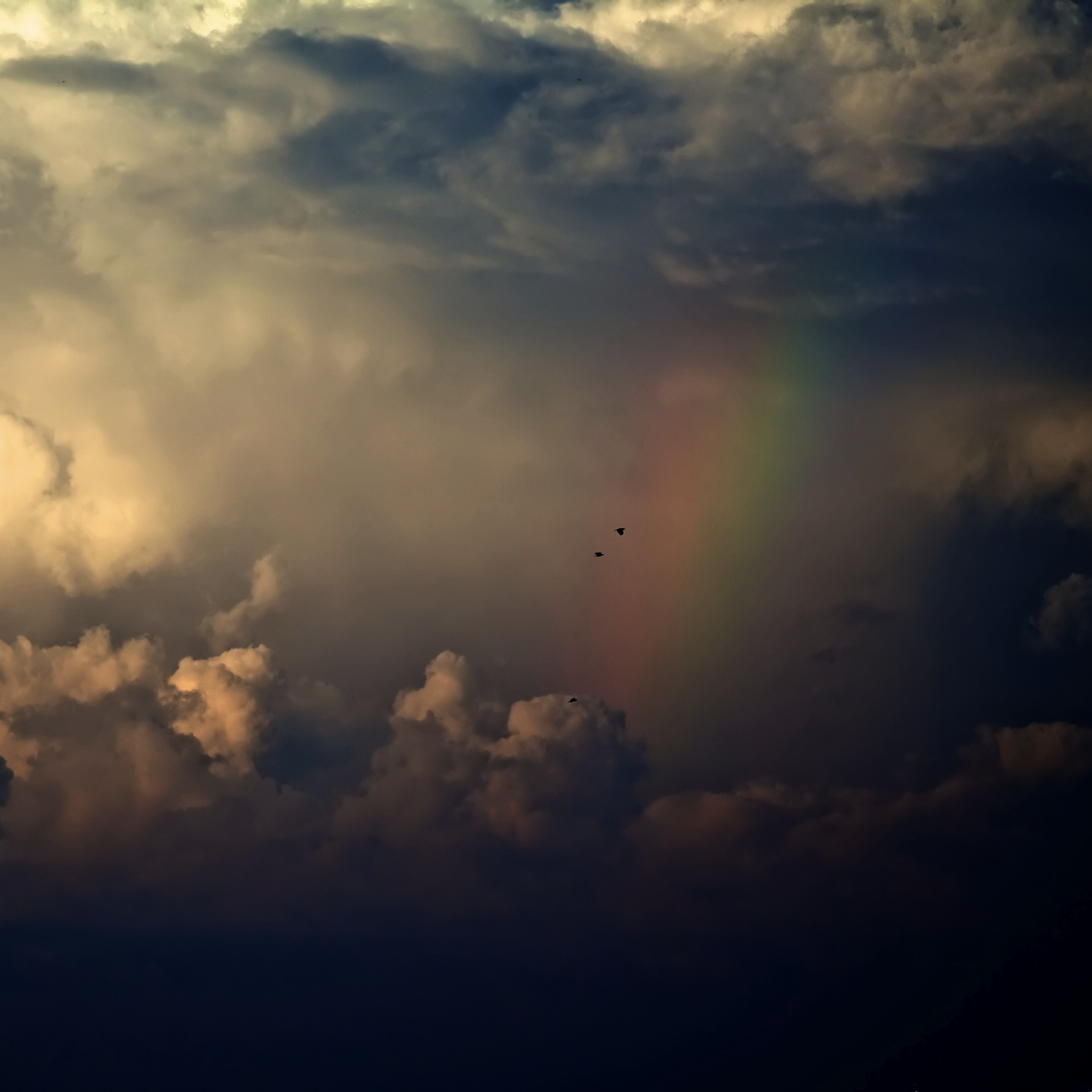 The Rainbow in the Clouds 3W iPad.jpg  The Rainbow in the Clouds   iPad