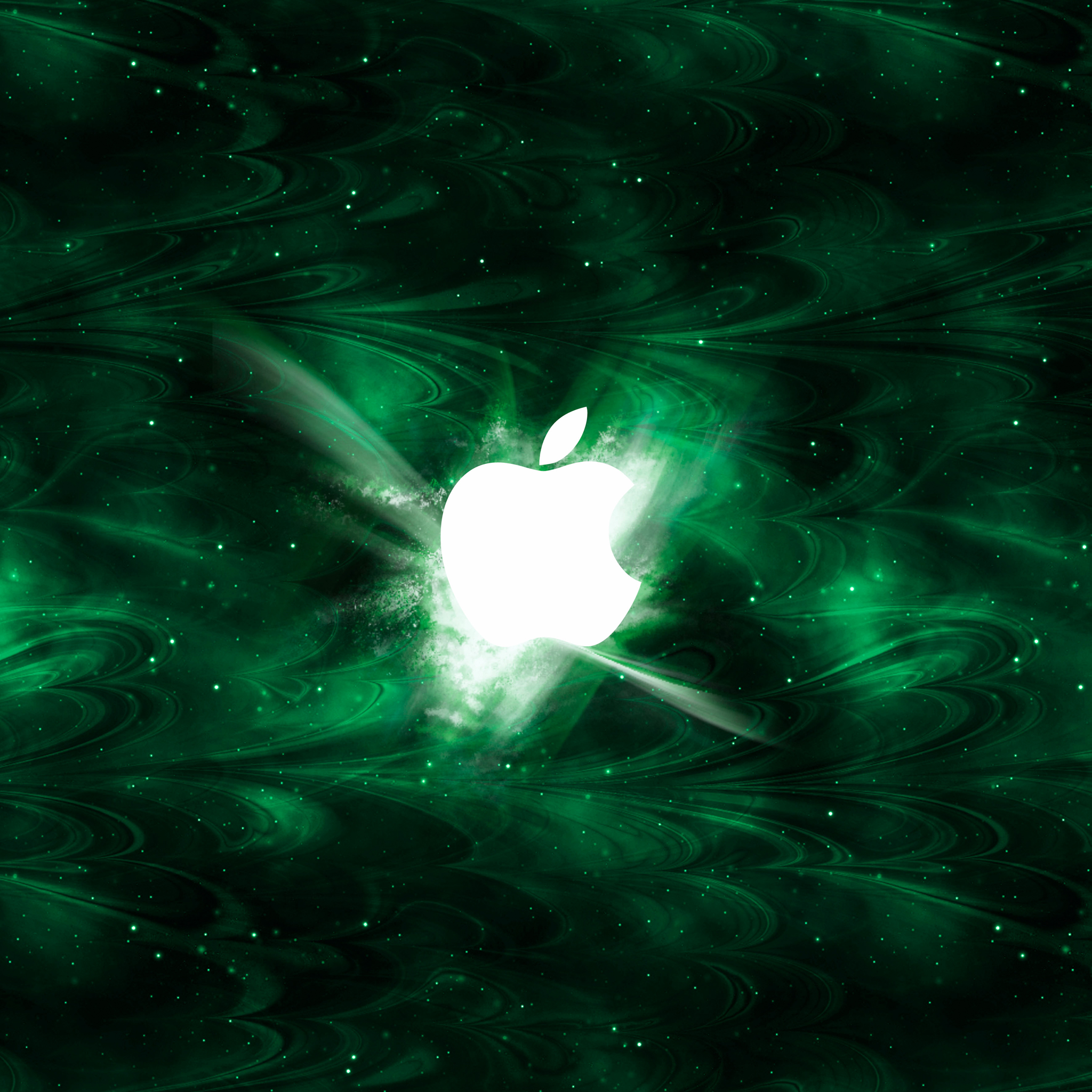 Green Smoked Apple 3Wallpapers iPad Green Smoked Apple   iPad