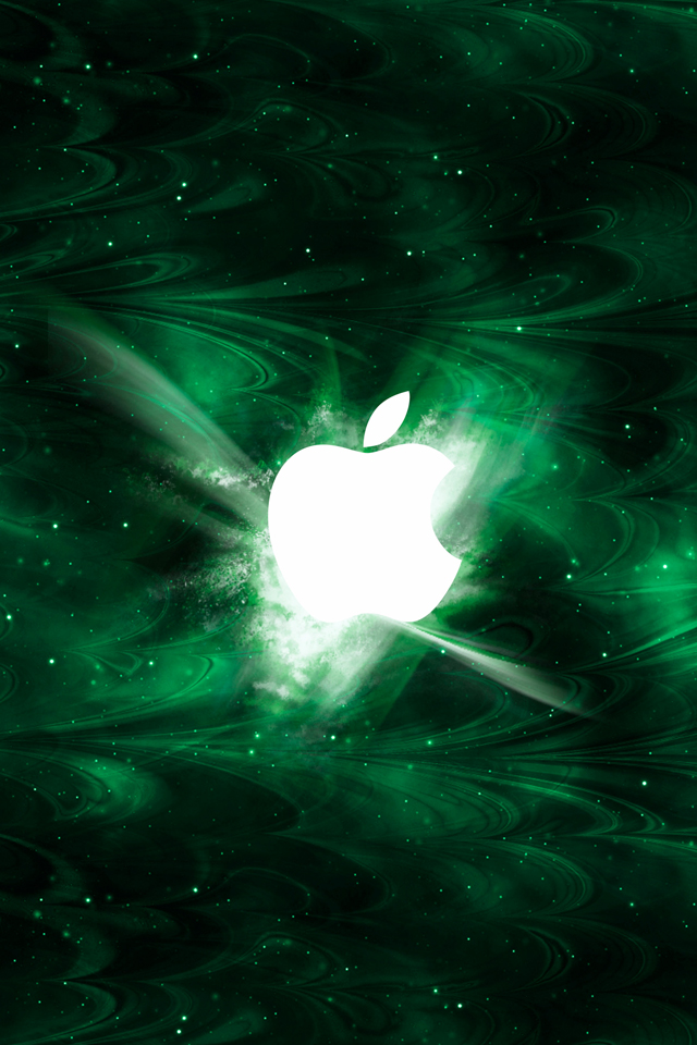Green Smoked Apple Wallpaper For Iphone X 8 7 6 Free Download