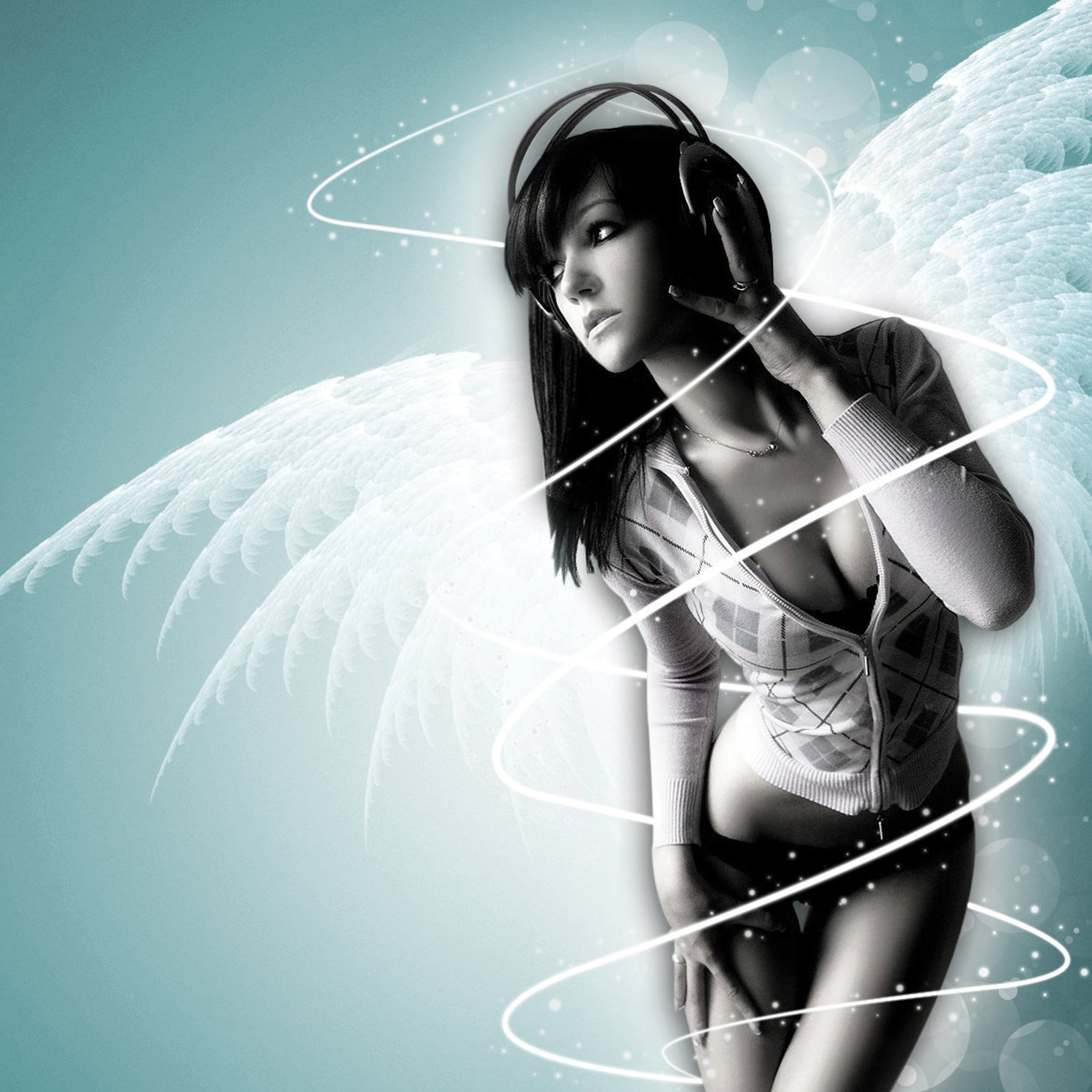 Angel-Girl-Music-3Wallpapers-iPad-Retina