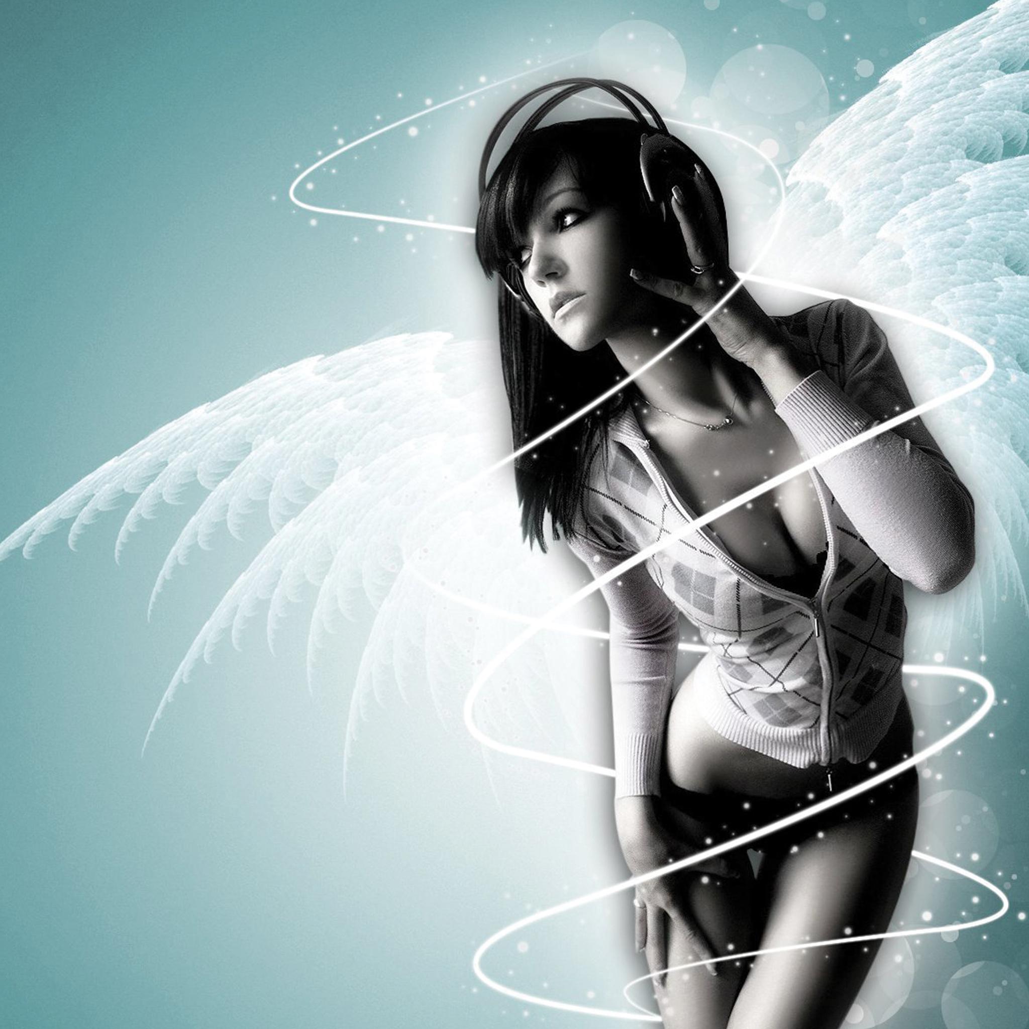 Angel Girl Music 3Wallpapers iPad Retina Angel Girl Music   iPad Retina