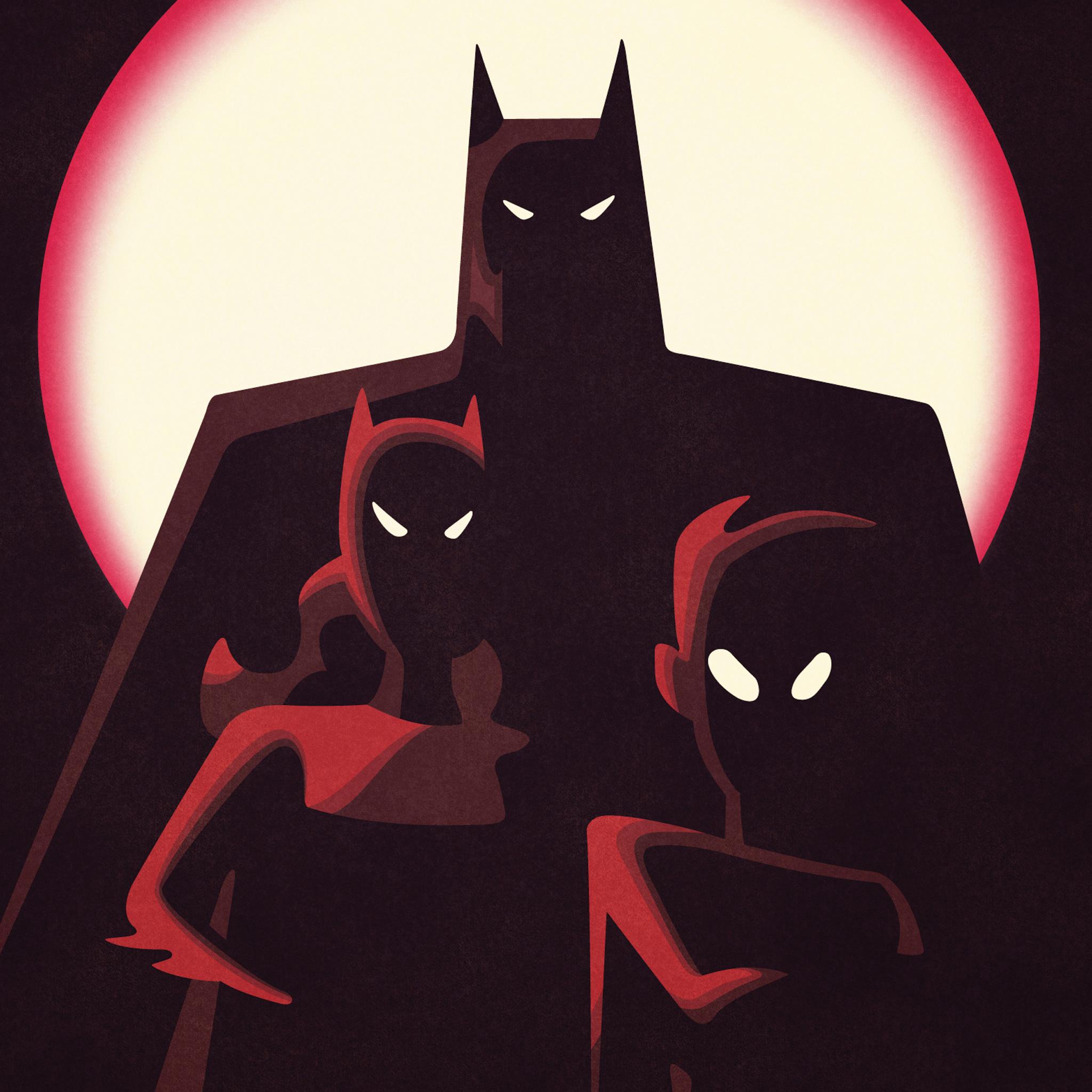 Batman Family 3Wallpapers iPad Retina Batman Family   iPad Retina