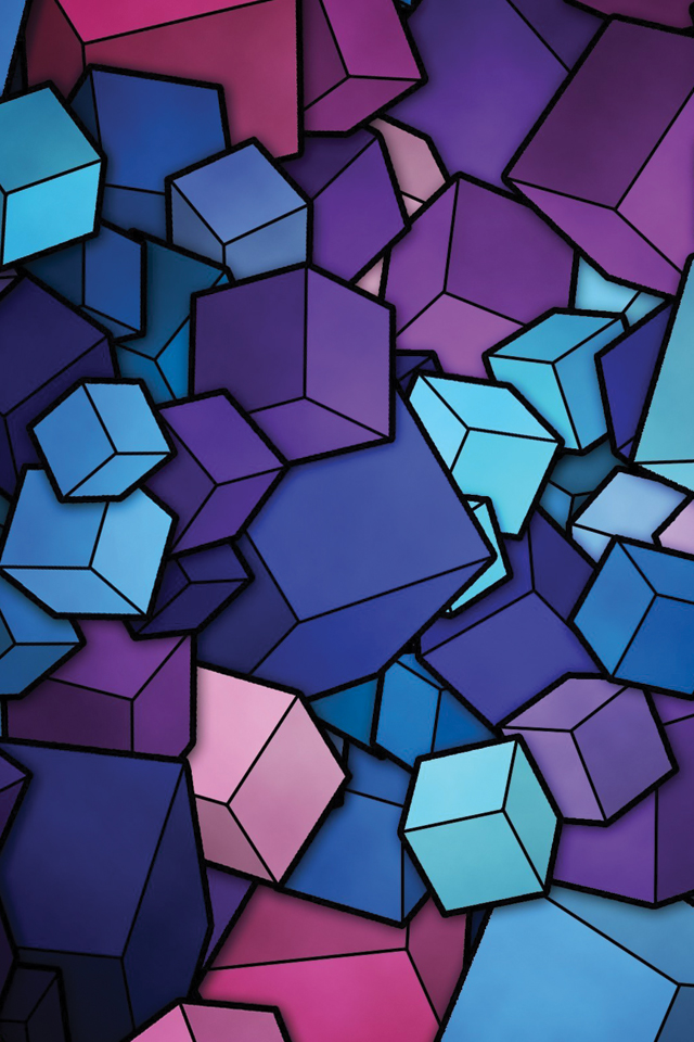 Blue Cube 3Wallpapers Blue Cube