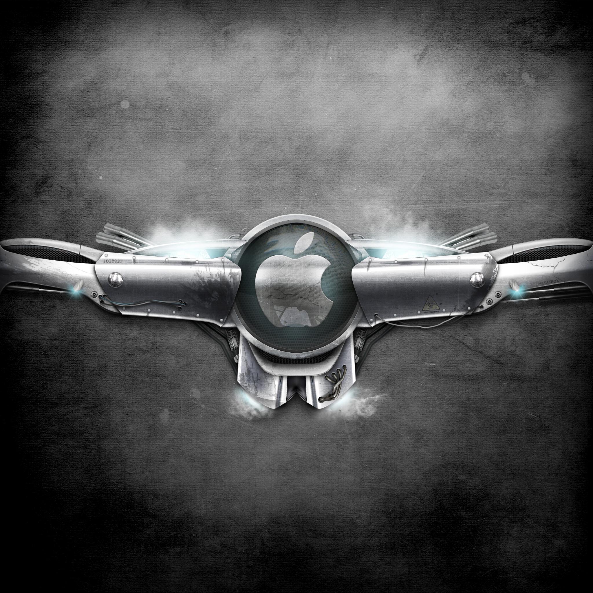 Futurist Apple Metal 3Wallpapers iPad Retina Futurist Apple Metal   iPad Retina