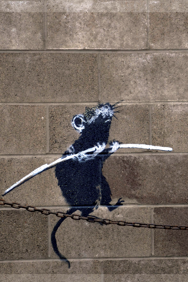 Banksy Rat on Chain 3Wallpapers Banksy   Rat on Chain