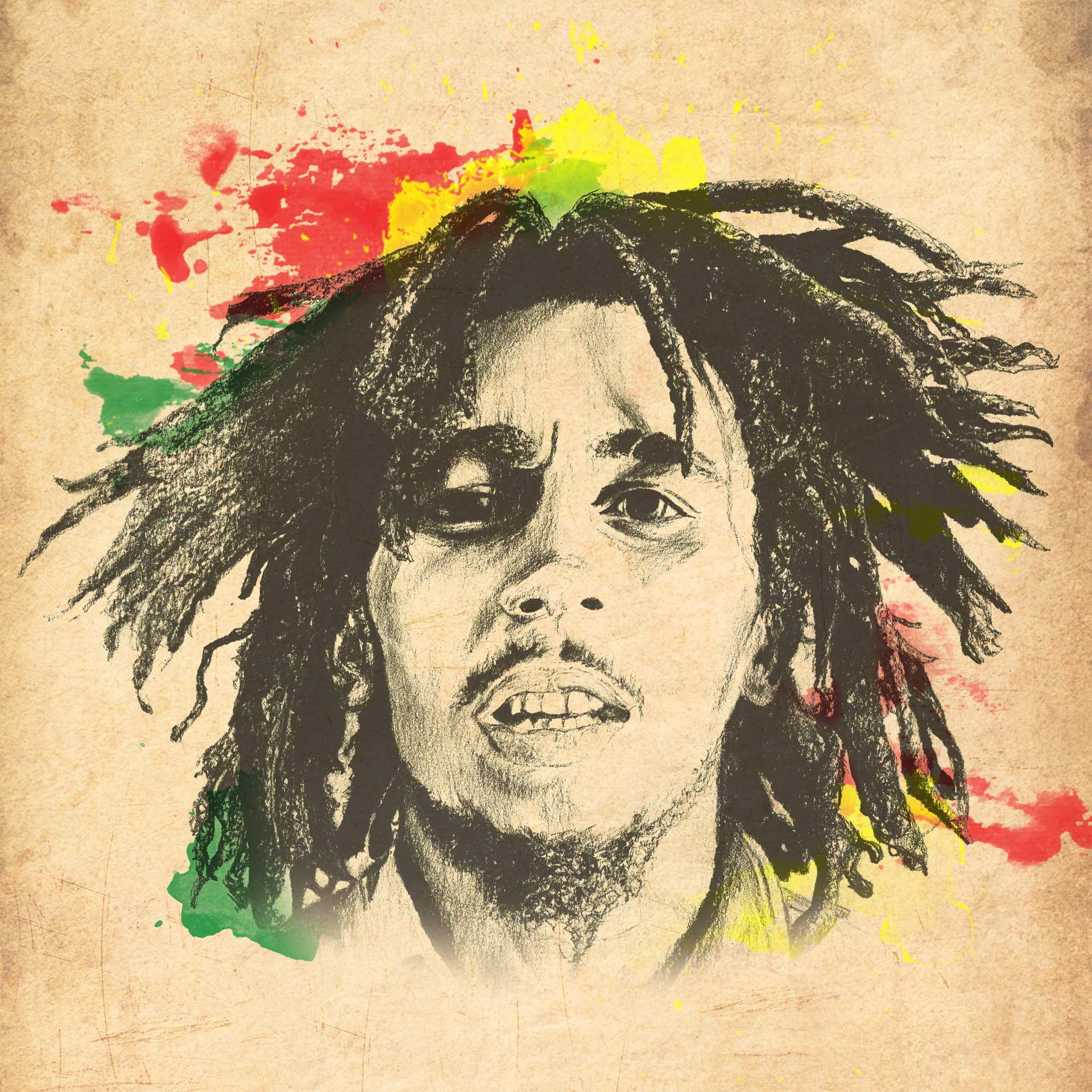 Bob Marley 3Wallpapers iPad Retina Bob Marley   iPad Retina