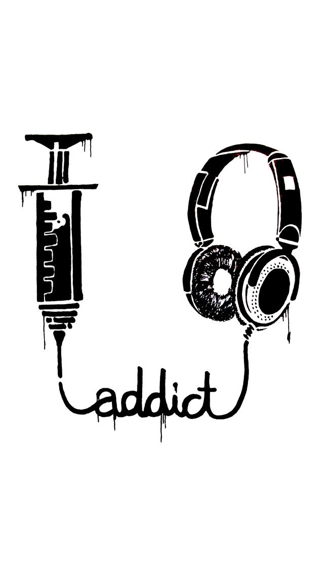 Music Addict 3Wallpapers iPhone 5 Music Addict