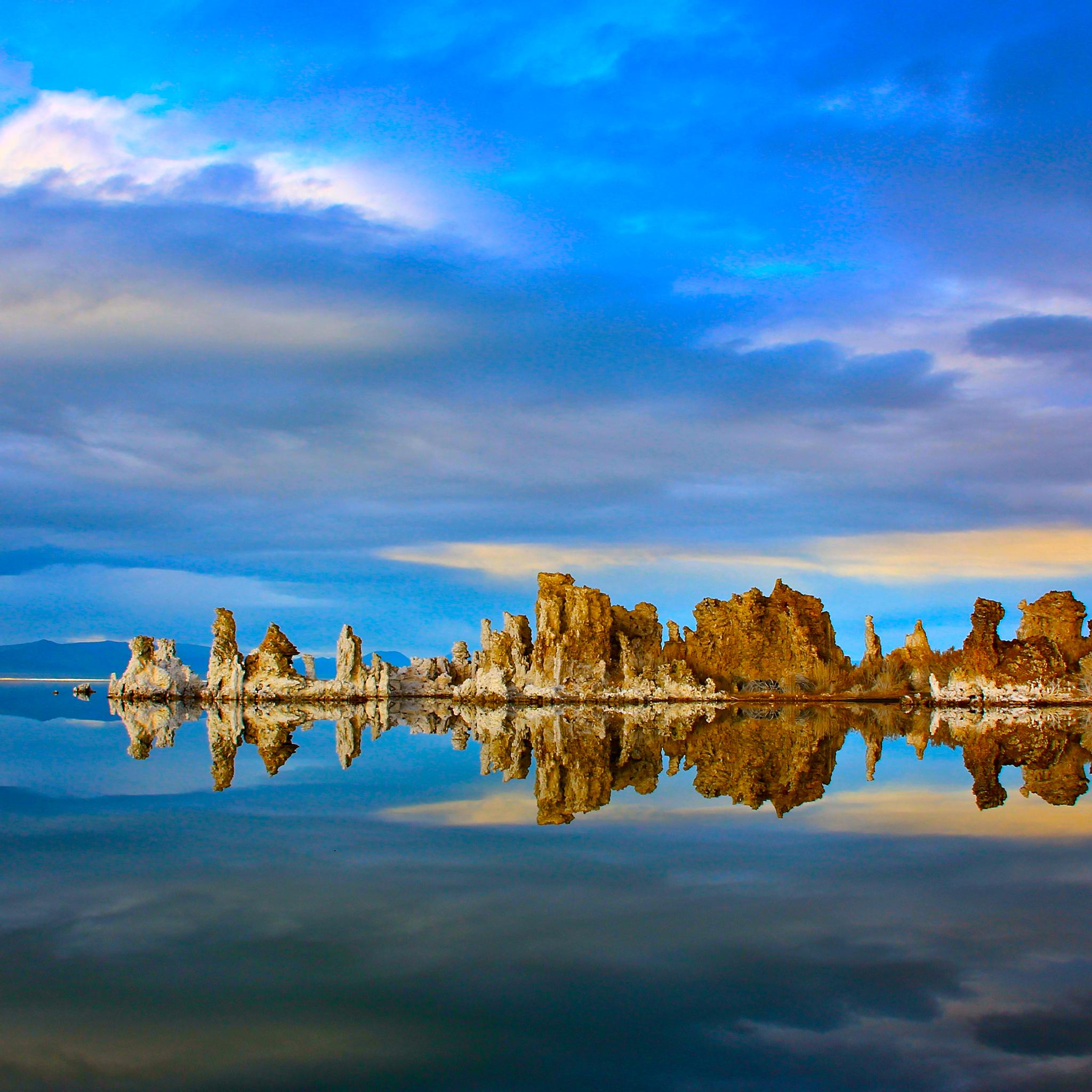 Californian Mono Lake 3Wallpapers iPad Retina Californian Mono Lake   iPad Retina