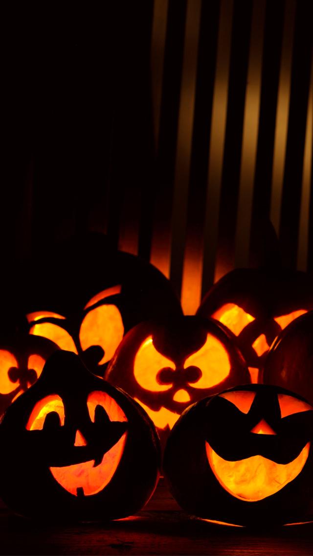 Funny Pumpkins Halloween 3Wallpapers iPhone 5 Funny Pumpkins Halloween