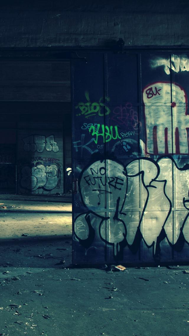Graffiti Warehouse 3Wallpapers iPhone 5 Graffiti Warehouse