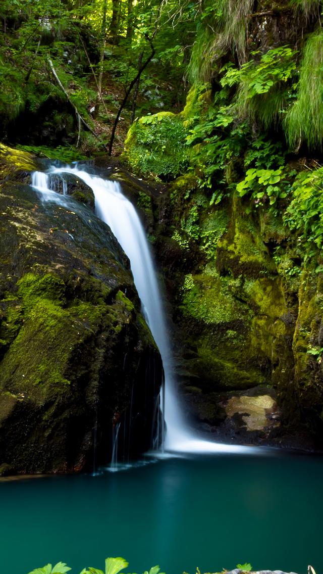 Natural Waterfall 3Wallpapers iPhone 5 Natural Waterfall