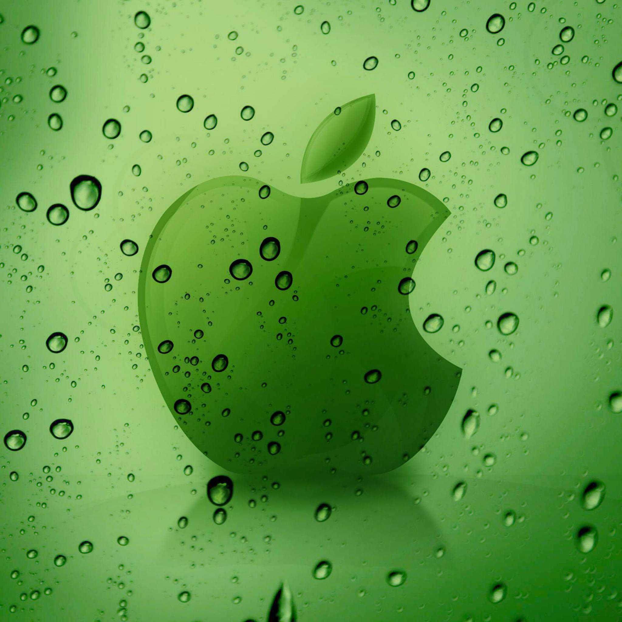 Green-Apple-Logo-3Wallpaper-iPad-Retina