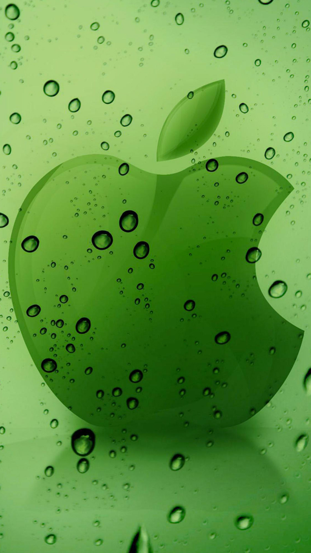 Green-Apple-Logo-3Wallpaper-iPhone-5