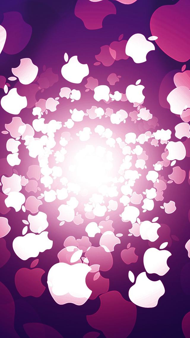 Purple Apple 3Wallpapers iPhone 5 Purple Apple