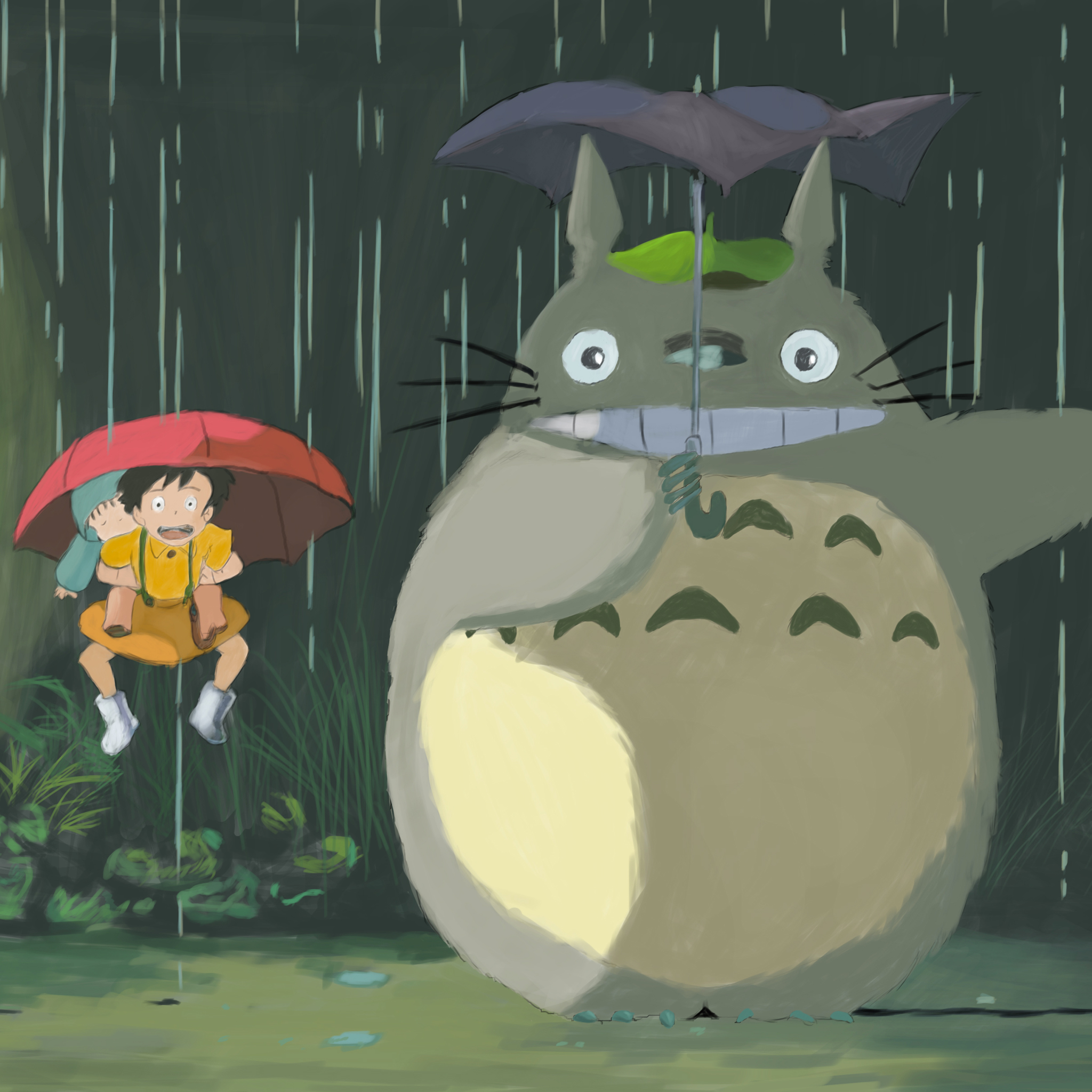 Totoro 3Wallpapers iPad Retina Totoro   iPad Retina