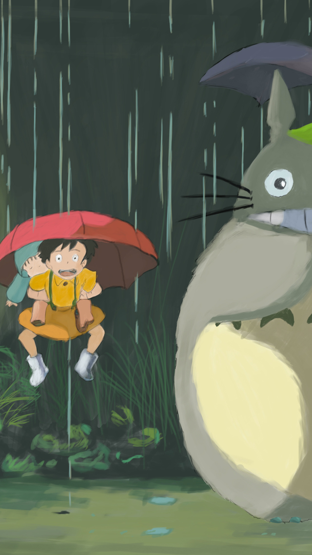 Totoro 3Wallpapers iPhone 5 Totoro