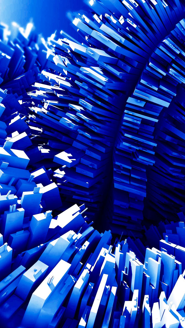 3D-Blue-3Wallpapers-iPhone-5