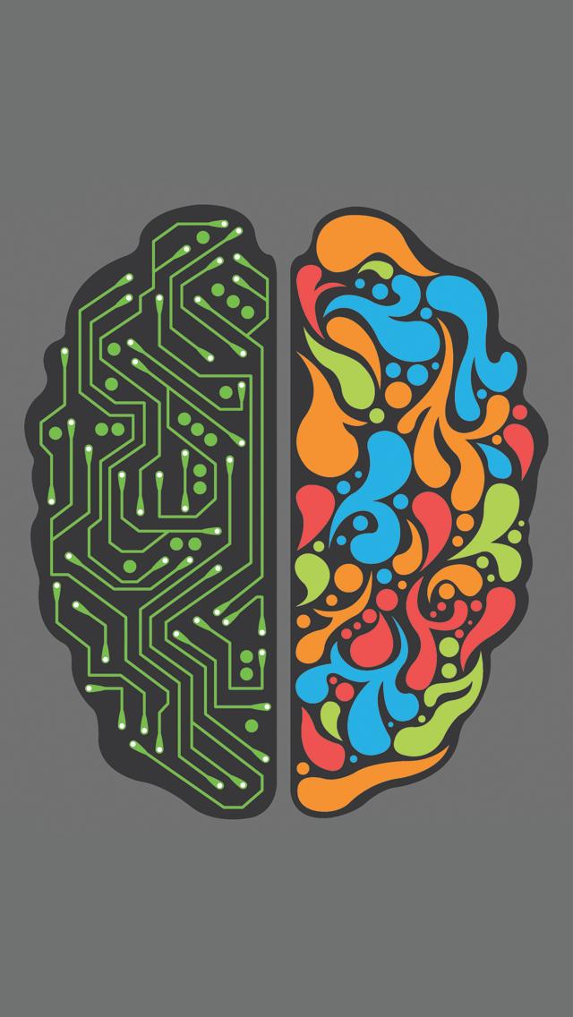 Brain 2.0 3Wallpapers iPhone 5 Brain 2.0