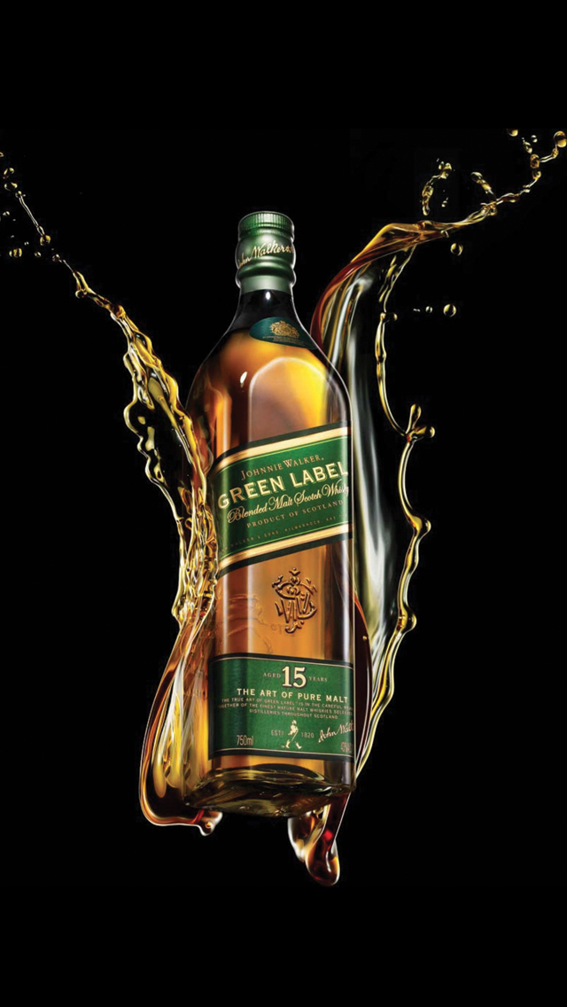 Green-Alcohol-Drink-Johnnie-Walker-3Wallpapers-iPhone-5