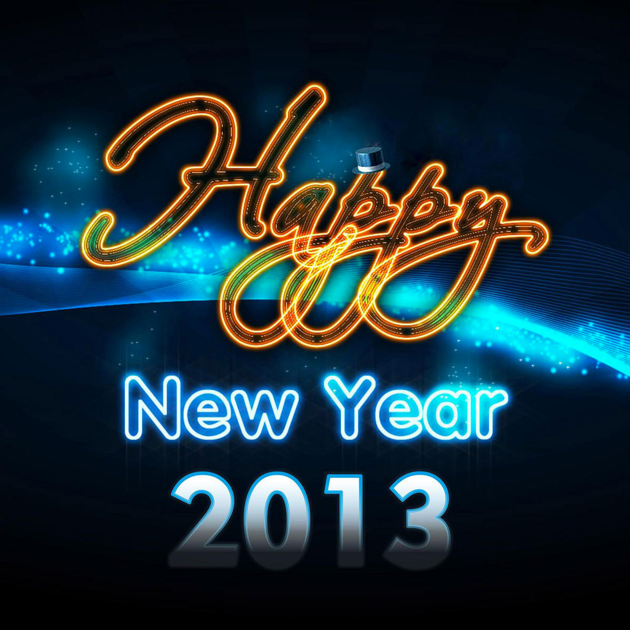 Happy New Year 2013 Ipad Retina Wallpaper For Iphone X 8 7 6