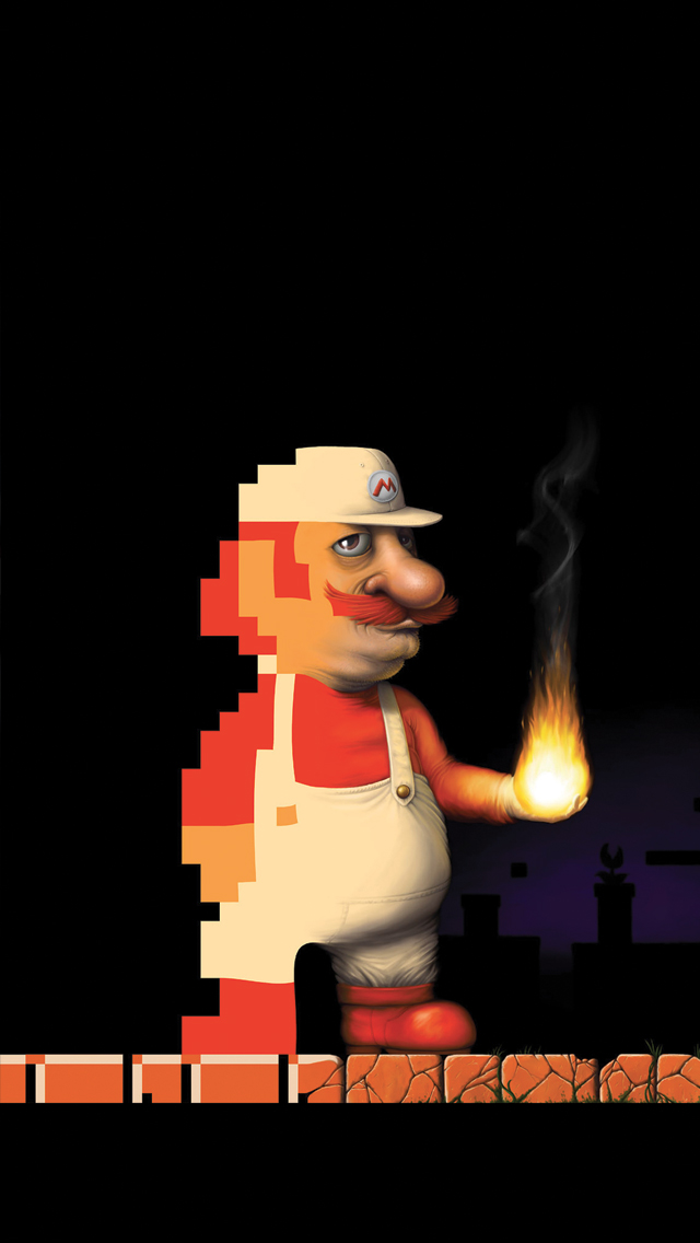 Mario-Trash-3Wallpapers-iPhone-5