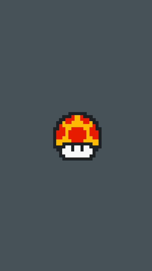 Mushroom-Pixel-3Wallpapers-iPhone-5