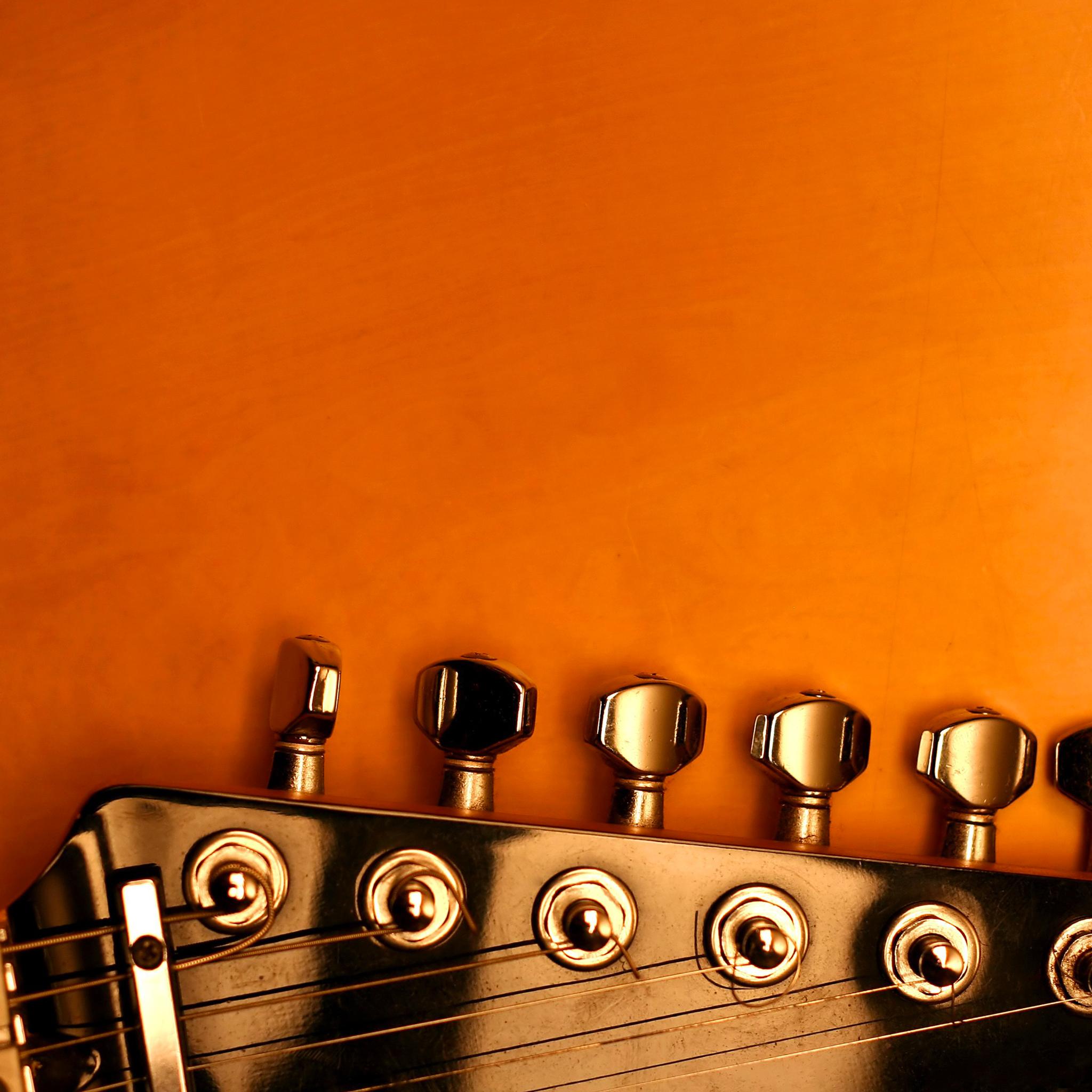 Orange-Guitar-3Wallpapers-iPad-Retina