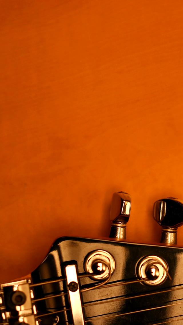 Orange Guitar 3Wallpapers iPhone 5 Orange Guitar
