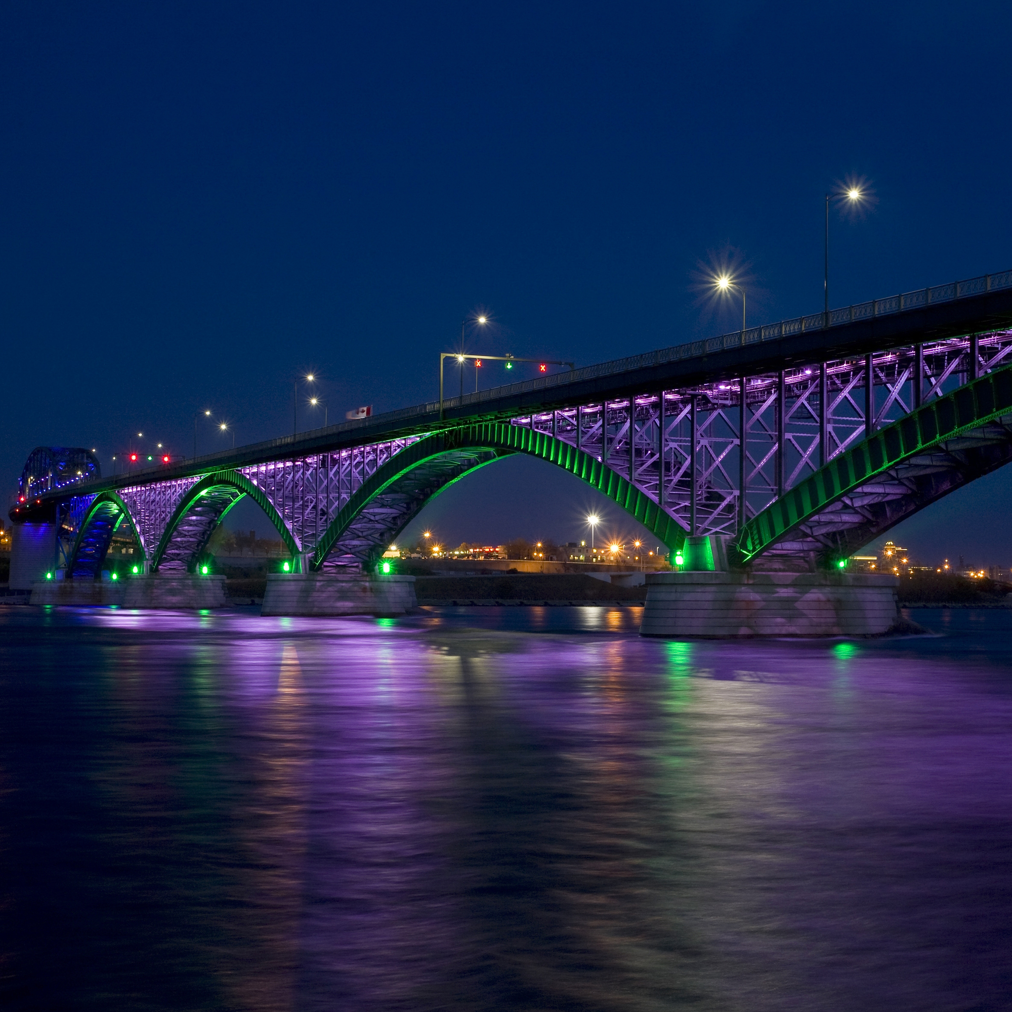 Peace Bridge by Night 3Wallpapers iPad Retina Peace Bridge by Night   iPad Retina