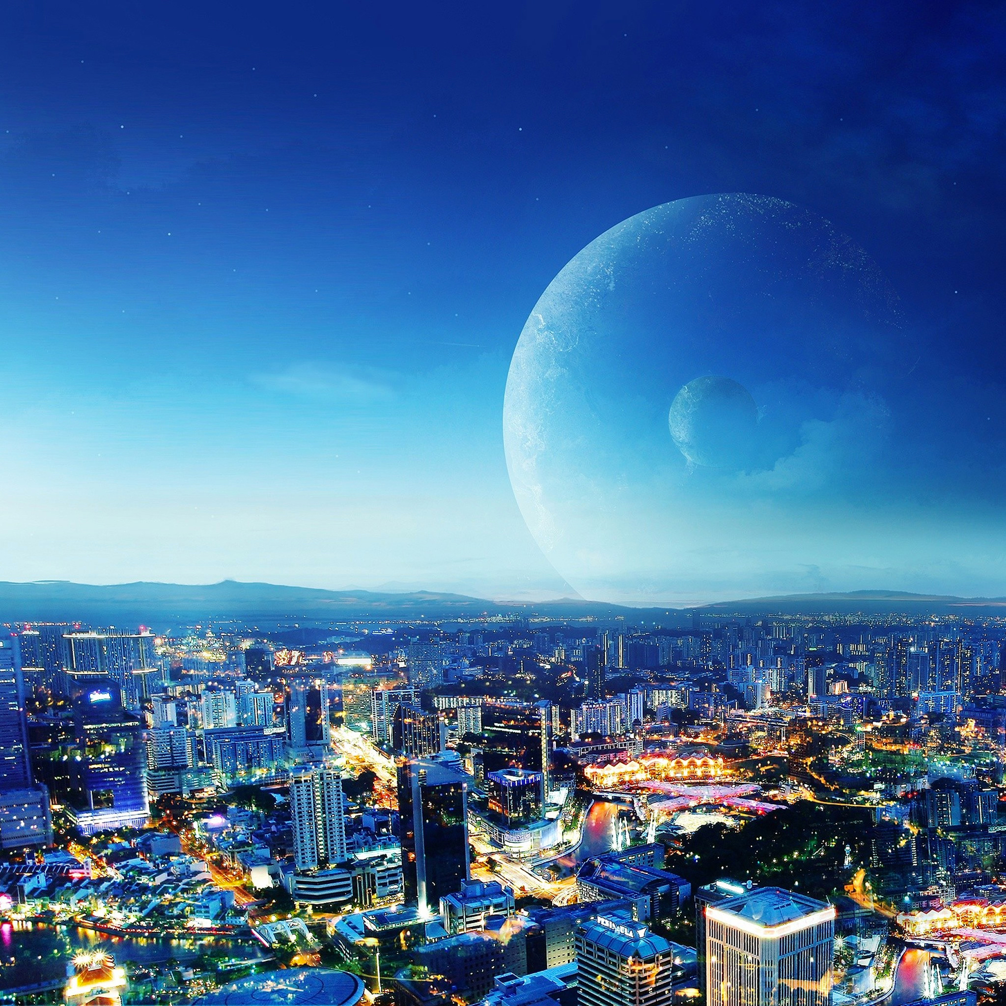 Cityscapes Planets 3Wallpapers iPad Retina Cityscapes Planets   iPad Retina