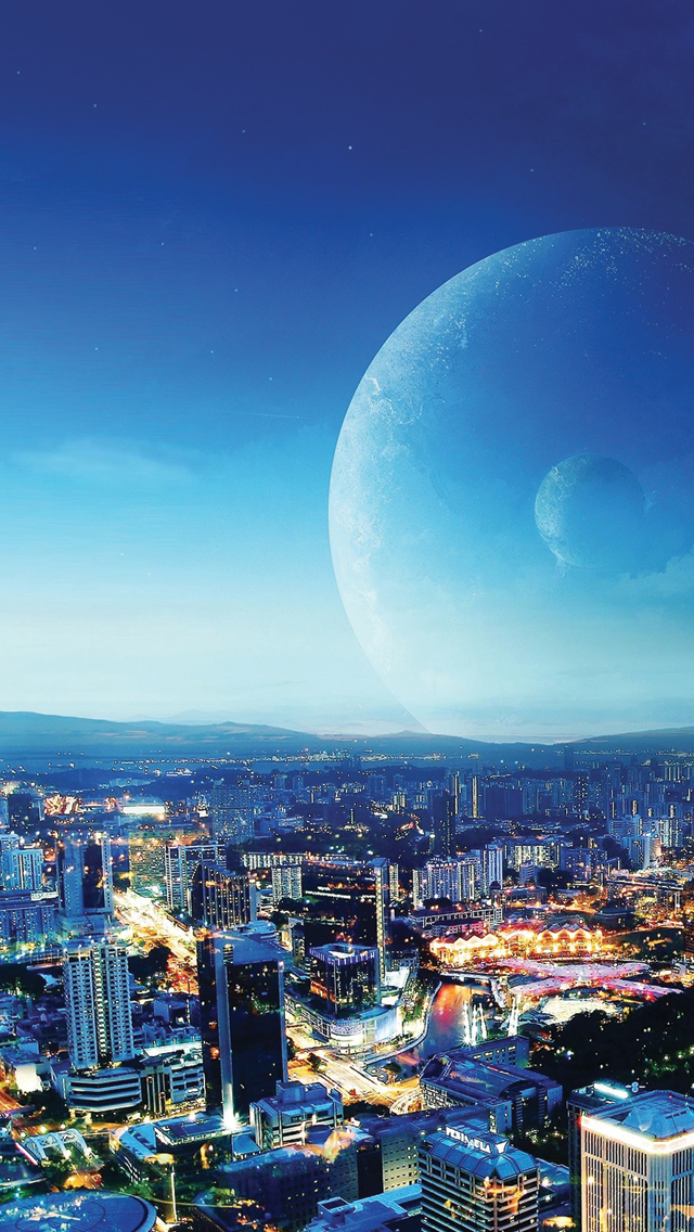 Cityscapes-Planets-3Wallpapers-iPhone-5