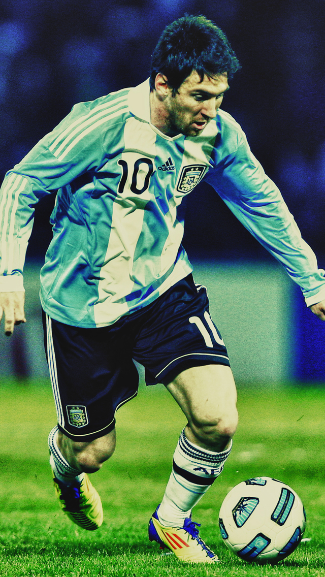 Messi-Agentina-3Wallpapers-iPhone-5