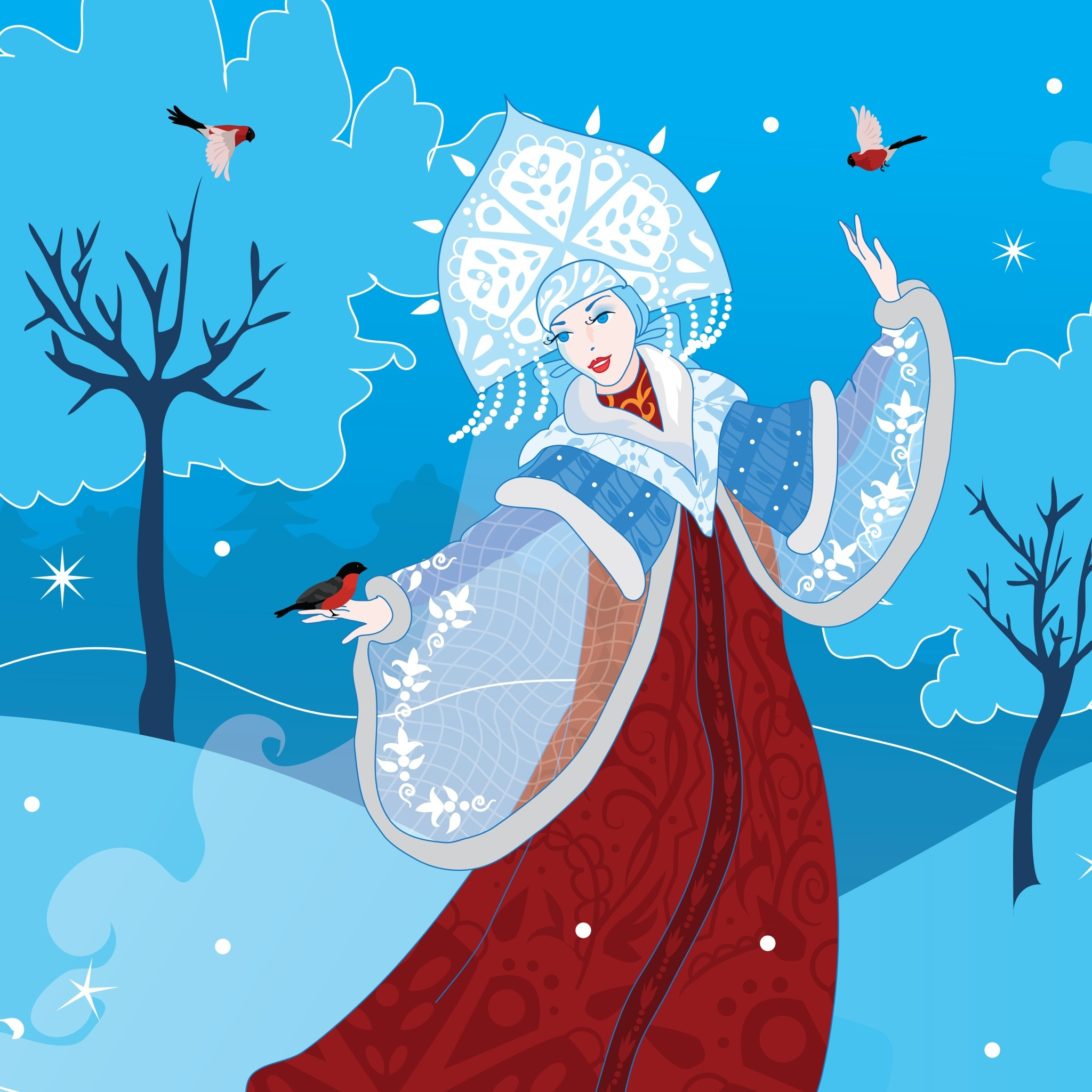 Russian Snow Maiden 3Wallpapers iPad Retina