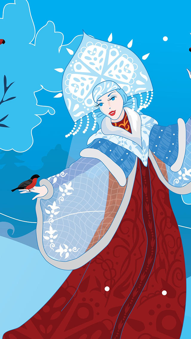 Russian Snow Maiden 3Wallpapers iPhone 5 Russian Snow Maiden