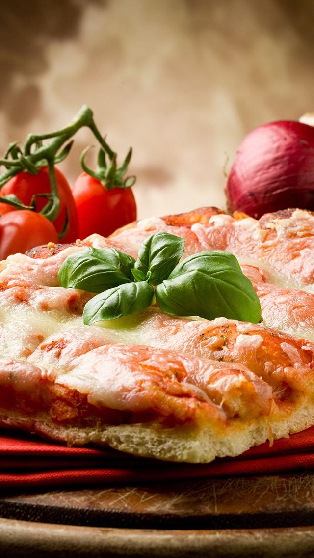 Basilic on Pizza 3Wallpapers iPhone 5 Basilic on Pizza