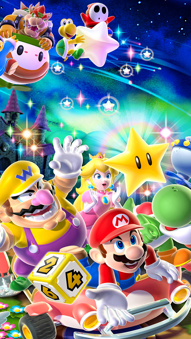 Mario And Friends Wallpaper For Iphone X 8 7 6 Free