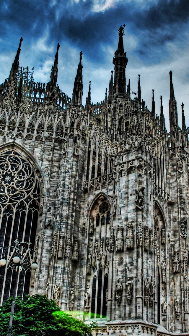 Milan Cathedral Gothic Church Wallpaper For Iphone X 8 7 6 Free