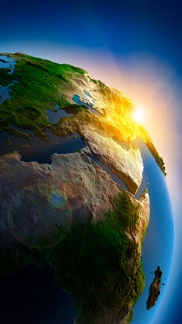 Planet Earth 3D 3Wallpapers IPhone 5