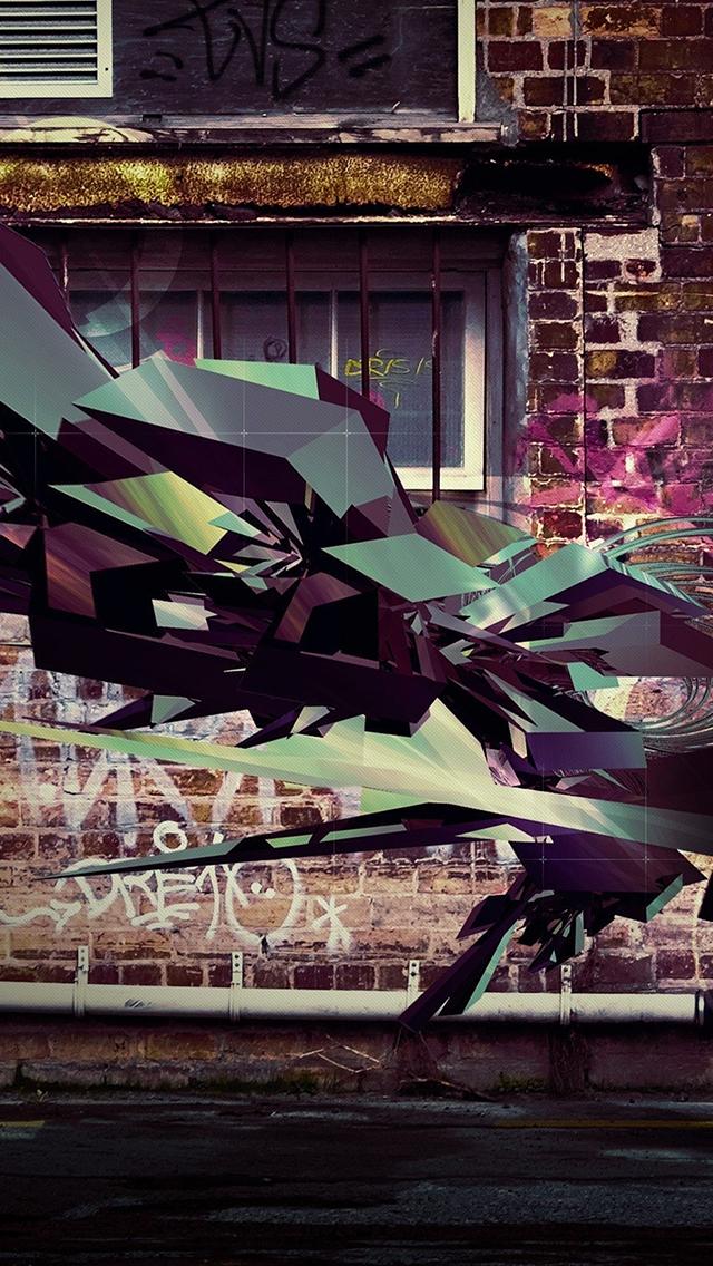 3D Graffiti 3Wallpapers iPhone 3D Graffiti